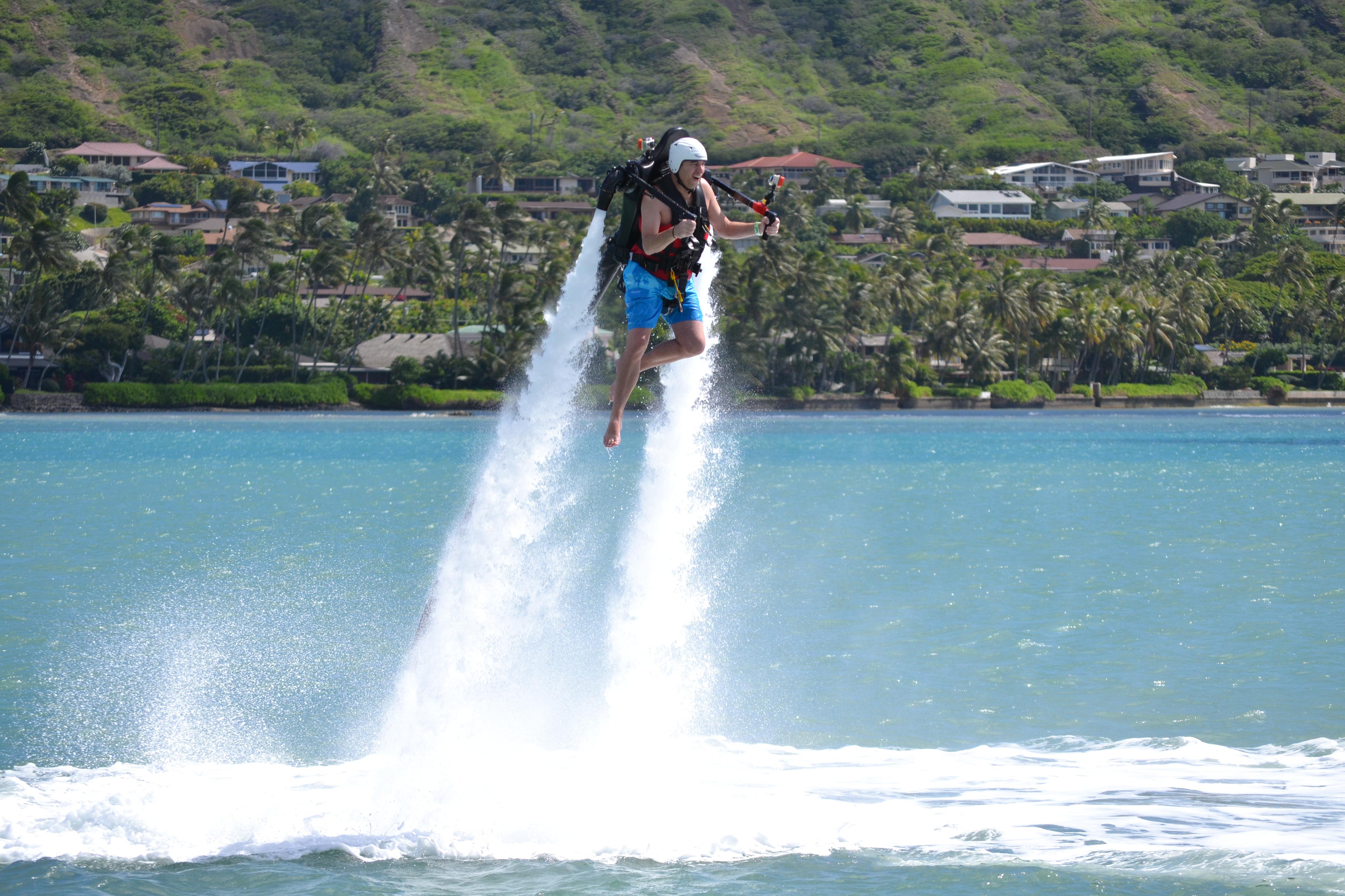 Noah St. John tried Jet Pack In Hawaii
