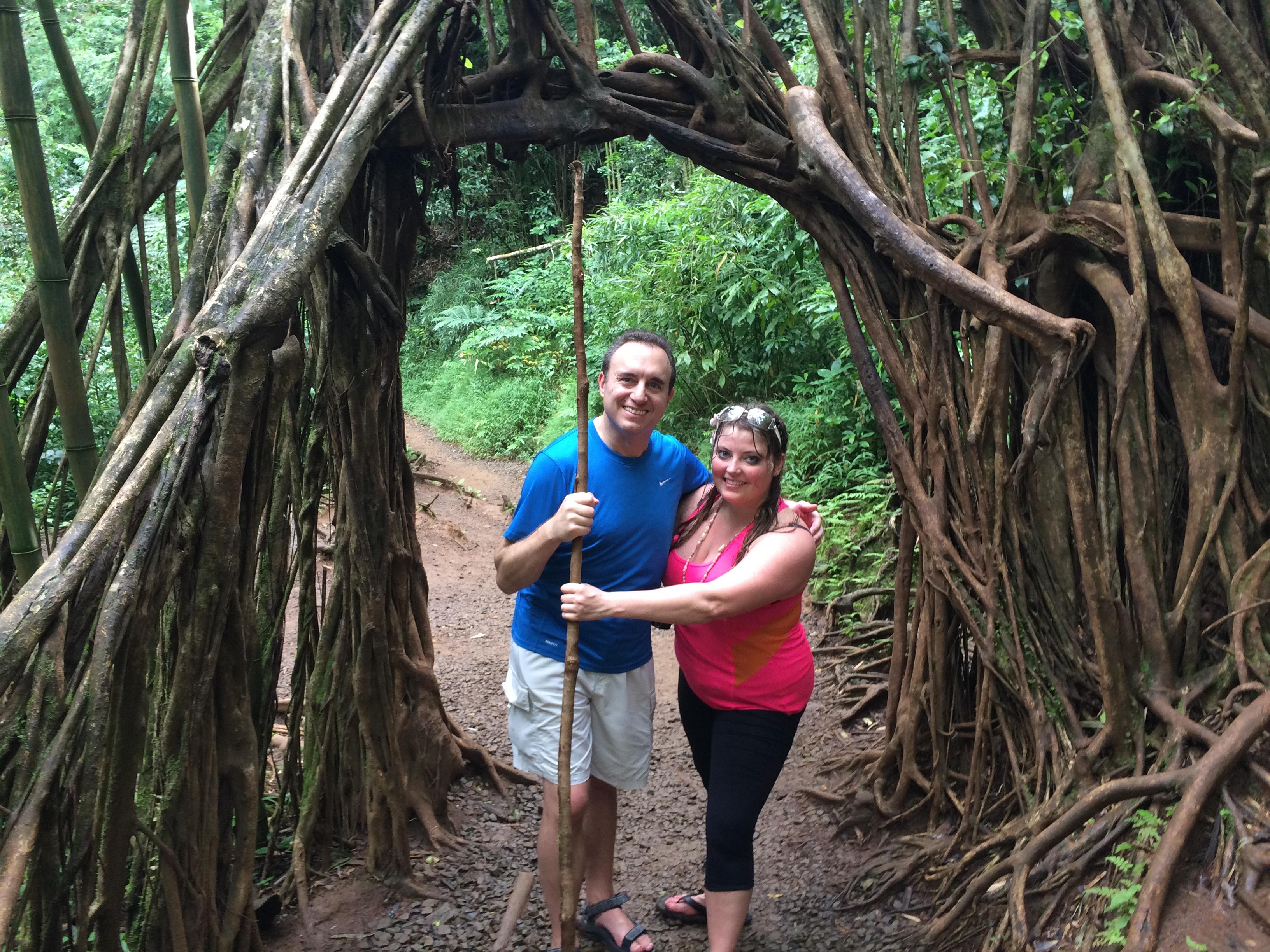 Noah St. John with his family in Hawaiian Rainforest
