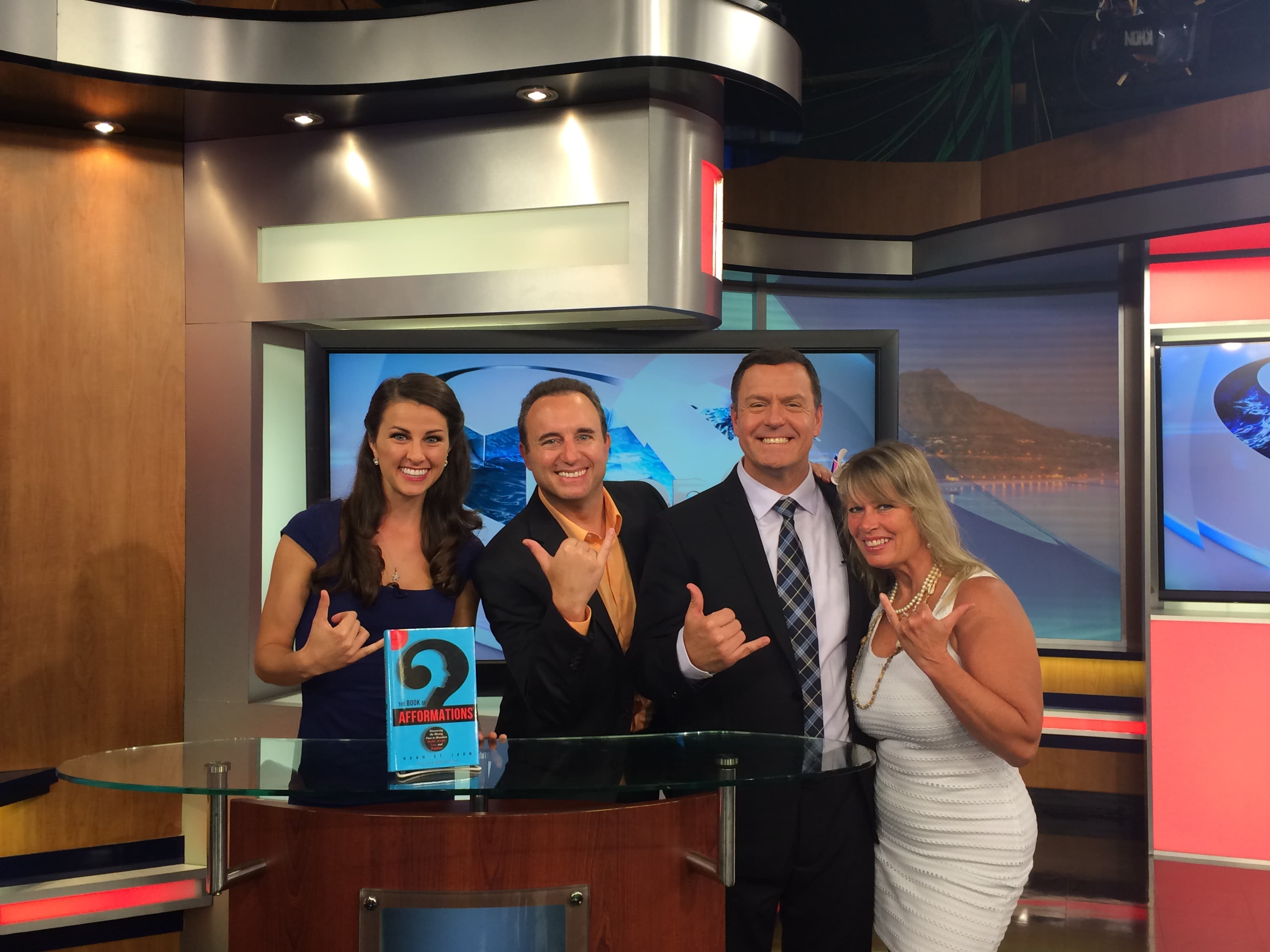 Noah St. John with Babette on Hawaii's News Channel